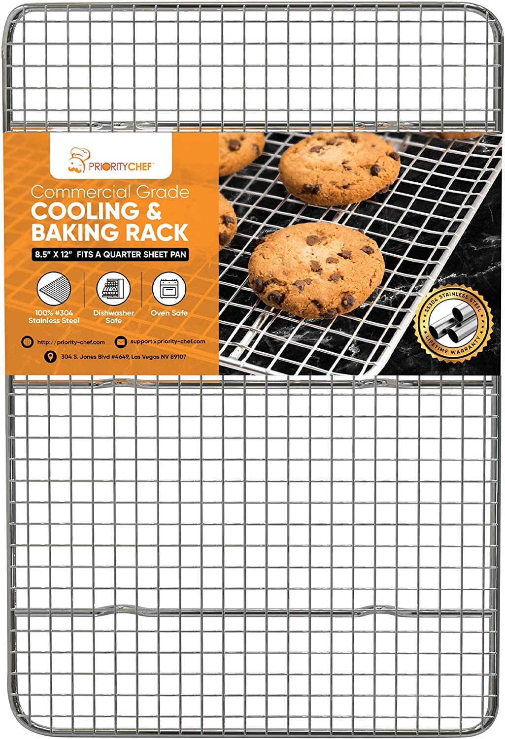 PriorityChef Cooling Rack, Wire Baking Rack for Oven Cooking, 8.5