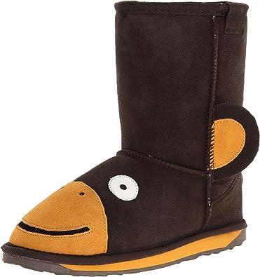 fcc40a7d1969d2 EMU Australia Kids Monkey Deluxe Wool Boots Size 10 Chocolate