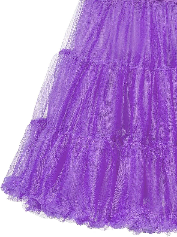 ZAPAKA 50s Petticoat Tutu Skirt Vintage Rockabilly Tulle Crinoline Underskirts for Women