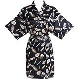 Find Dress Women's Kimono Short Robe Satin Floral Flower Sleepwear