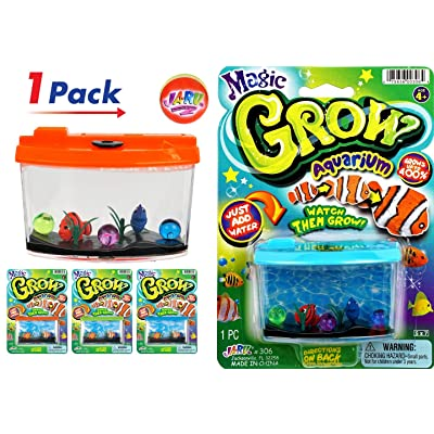 JA-RU Magic Grow Fish Aquarium, Grow in Water Magic Toy Plus 1 Bouncy Ball Bundle Sea Creatures | Item #306-1slp: Toys & Games