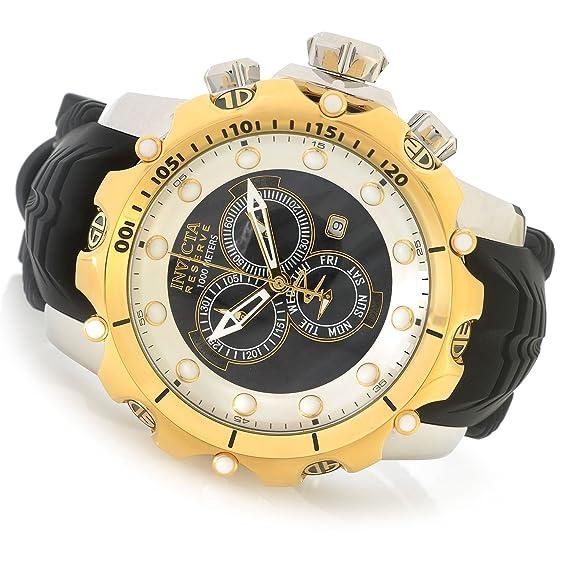 Invicta Venom cuarzo reloj Casual de Silicona y acero inoxidable, color: negro