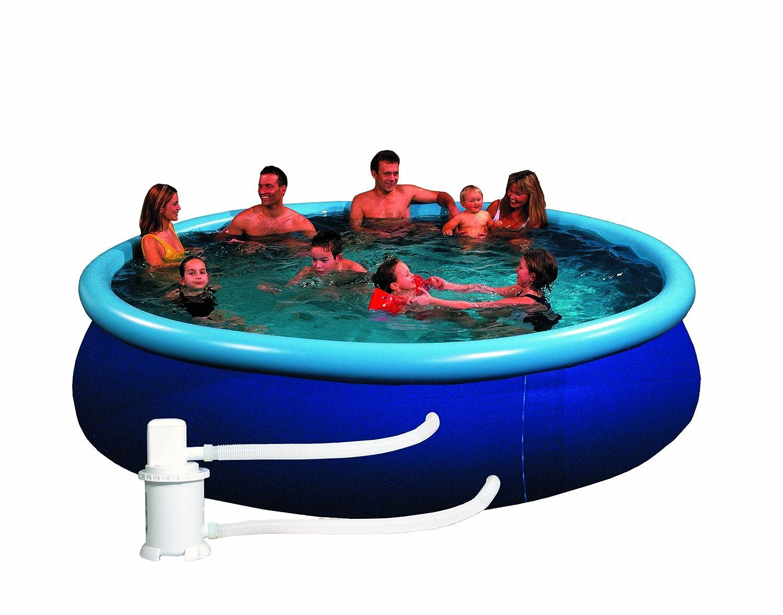 Pool Quick Up Set bestehend aus Filteranlage Abdeckplane, transparent blau, 350 X 76 cm, 12301