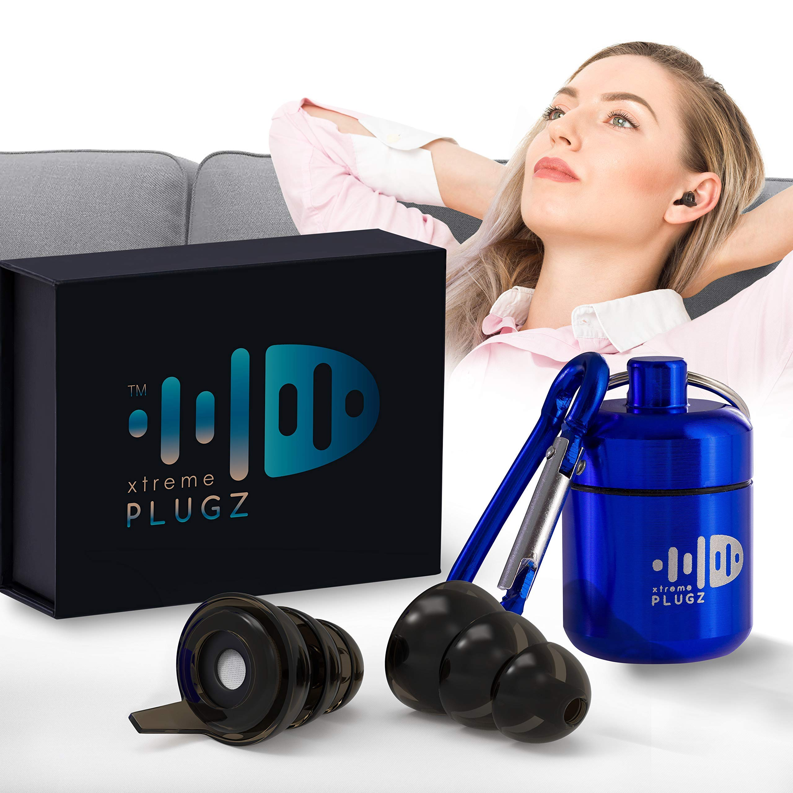 Xtreme Plugz Noise Cancelling Earplugs - High Fidelity Hearing Protection for Concerts Musicians Motorcycle Sensory Disorders and Other Noisy Environments - 3 Different Sizes to Fit All Ear Shapes by Xtreme PLugz