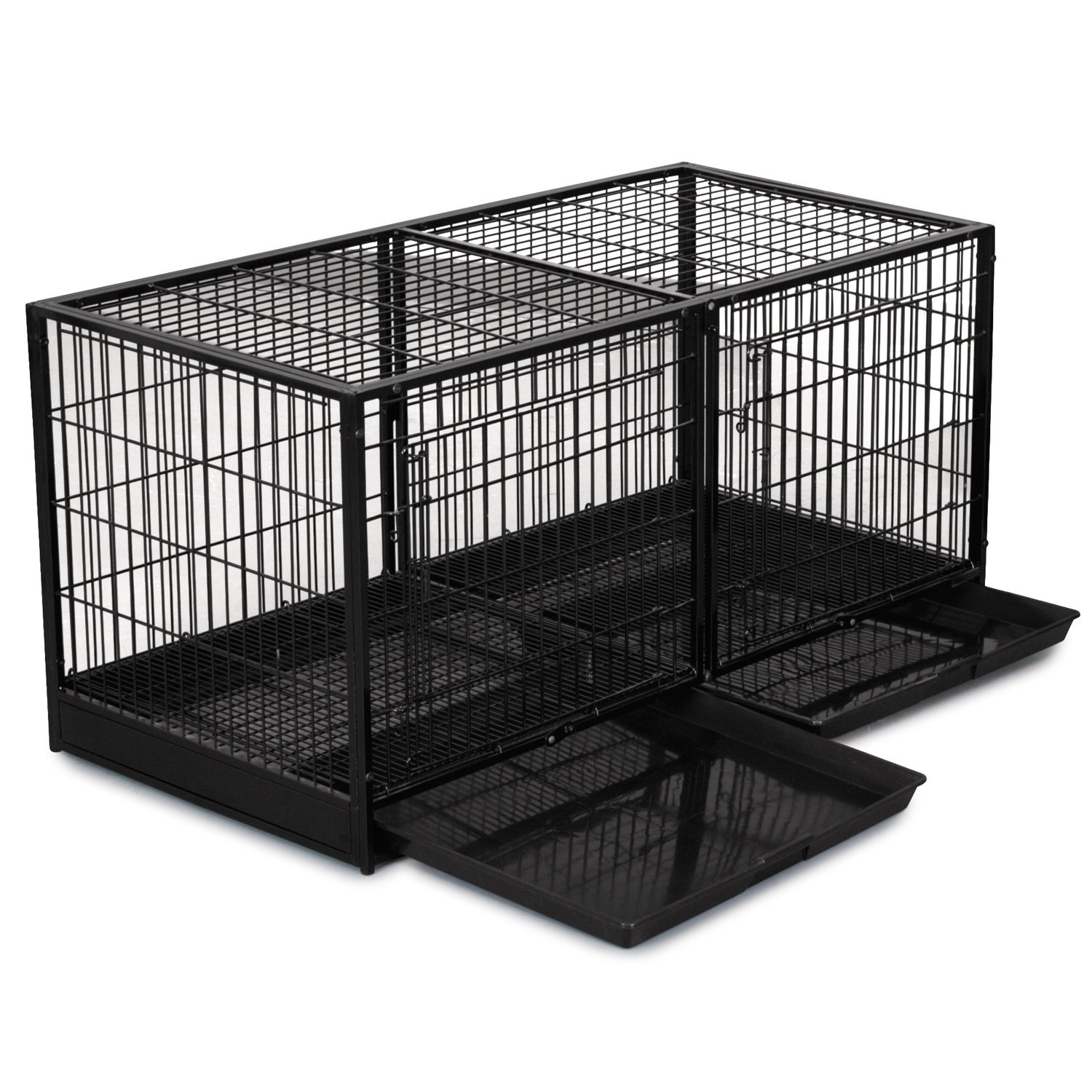 Pro Select Steel Modular Cage with Plastic Tray, Black by Pro Select