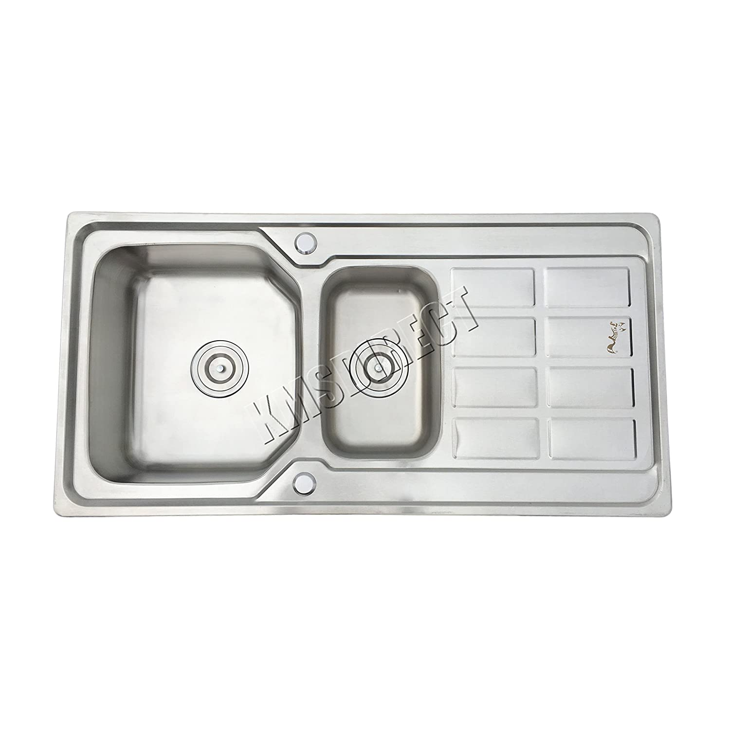 WestWood Double 1.5 Bowl Stainless Steel Kitchen Sink With Complete ...