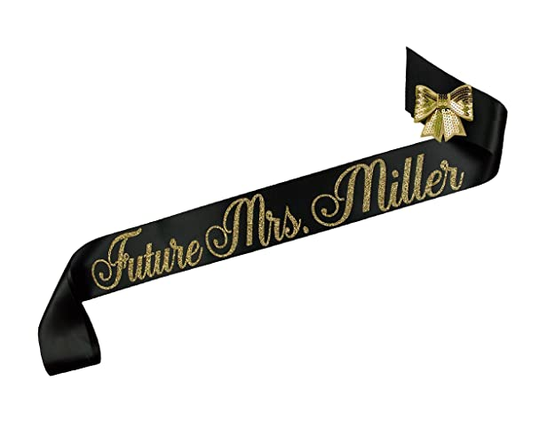 personalized future mrs bridal shower sash
