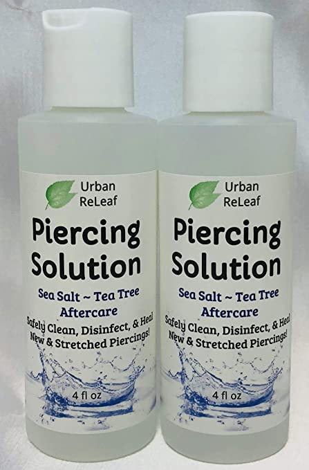 Amazon Com Urban Releaf Piercing Solution 8 Oz Healing Sea Salts