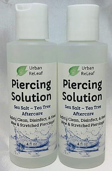 Amazoncom Piercing Solution 8 Oz Healing Sea Salts Botanical