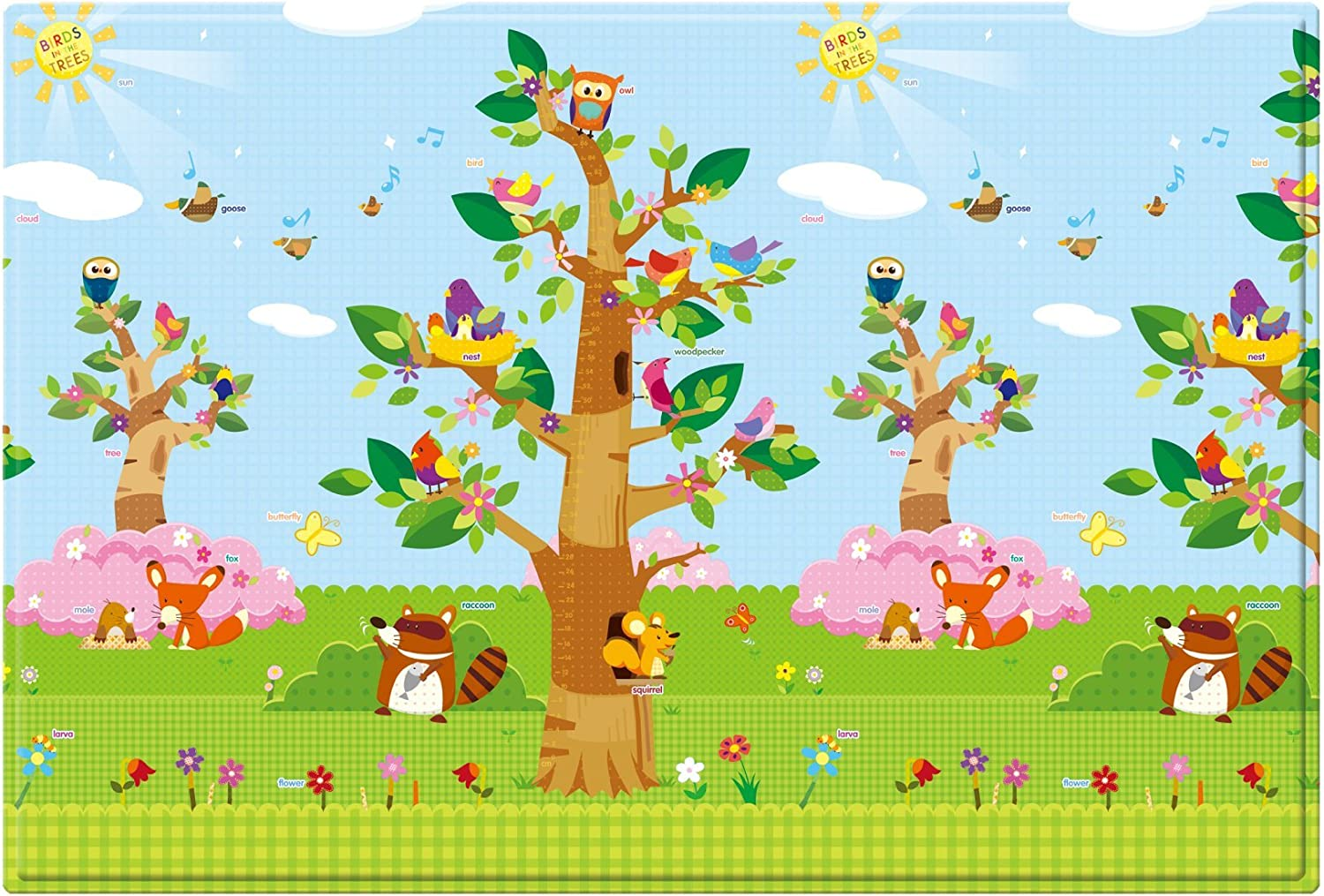 Baby Care Double sided soft Playmat/Kids Toddler Children Play Mat/Crawling Mat/Protecting Play Mats - Birds in the Trees - Large I & S Co. Ltd.