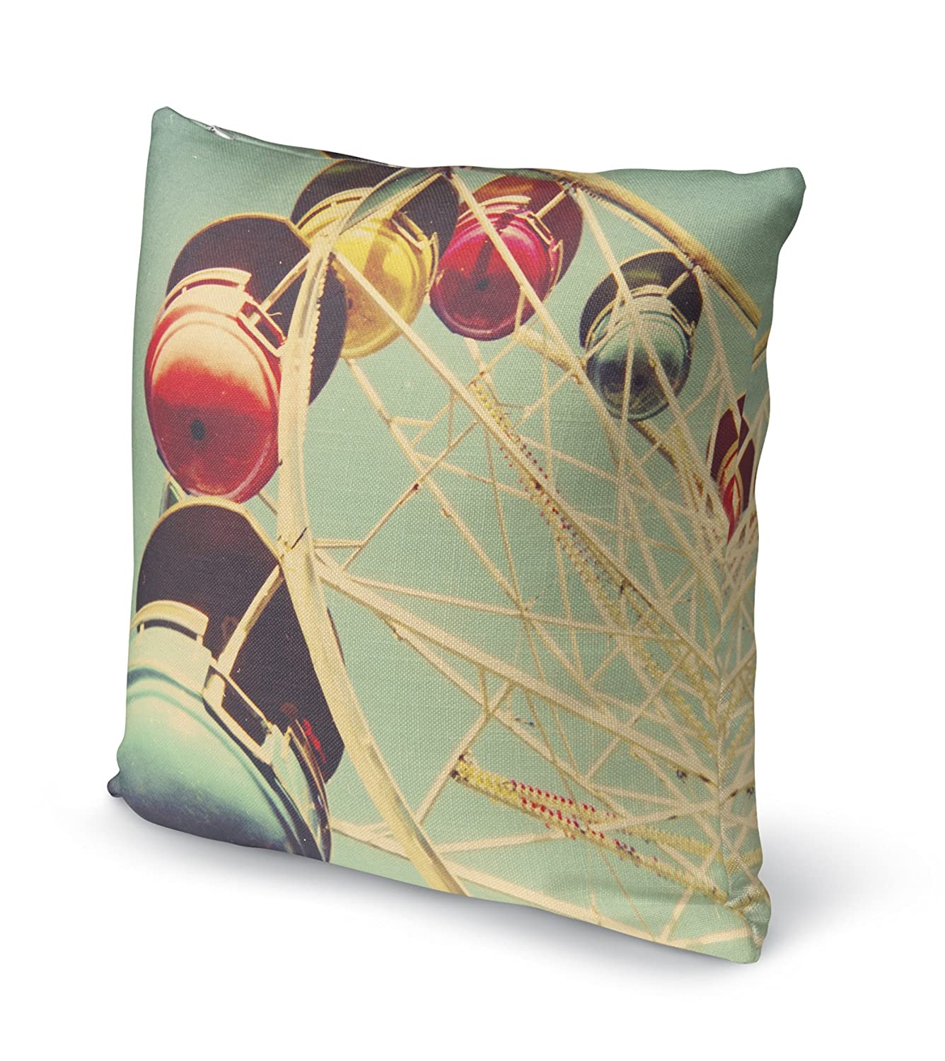 Size: 18X18X6 - KAVKA Designs 1971 Accent Pillow, Blue//Red//Yellow - Heartland Collection BOBAVC053DI18