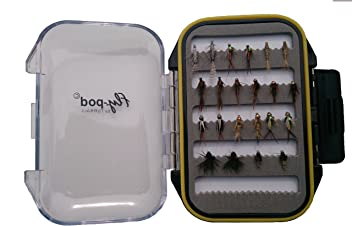 Black, Turrall Fly-Pod Fishing Fly Selection 10 Poppers