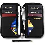 Travel Wallet & Family Passport Holder RFID Blocking Case - Document Organizer