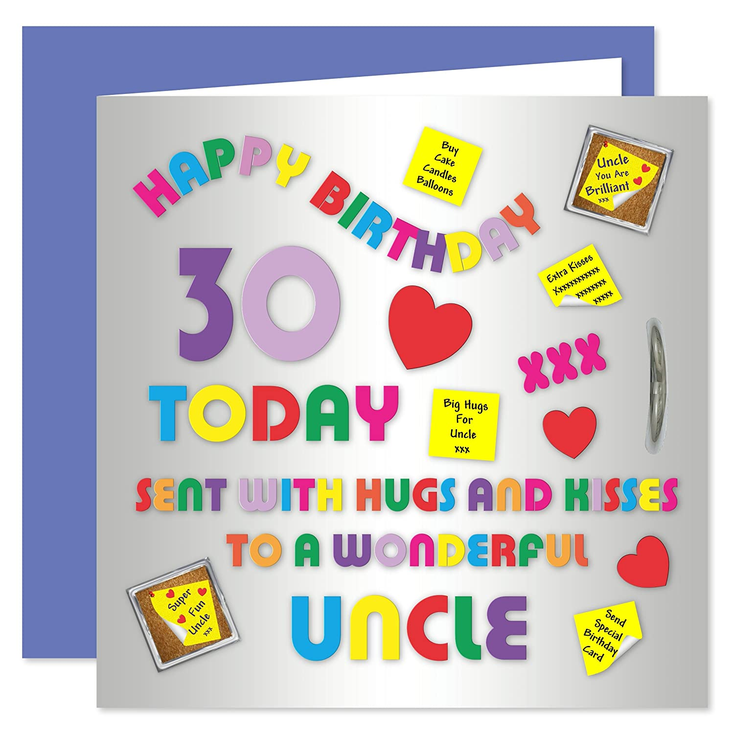 Uncle 30th Happy Birthday Card