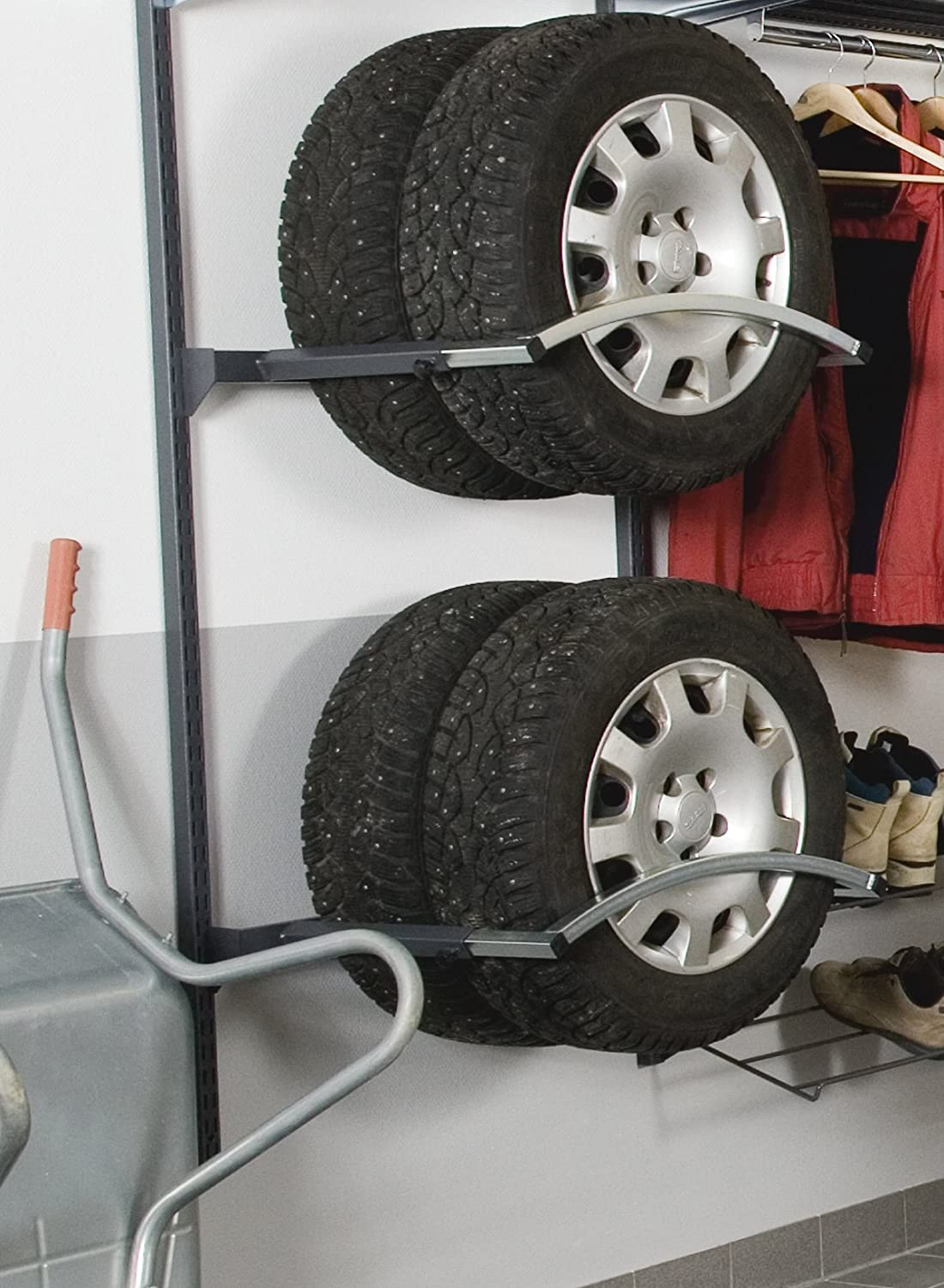 H Adjustable Depth Tire Holder Unit L x 63 In Gray Triton Products Storability 1797 33 In