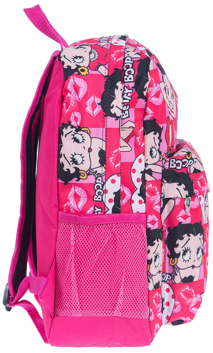 Betty Boop canvas school Backpack Pink face book sport pockets