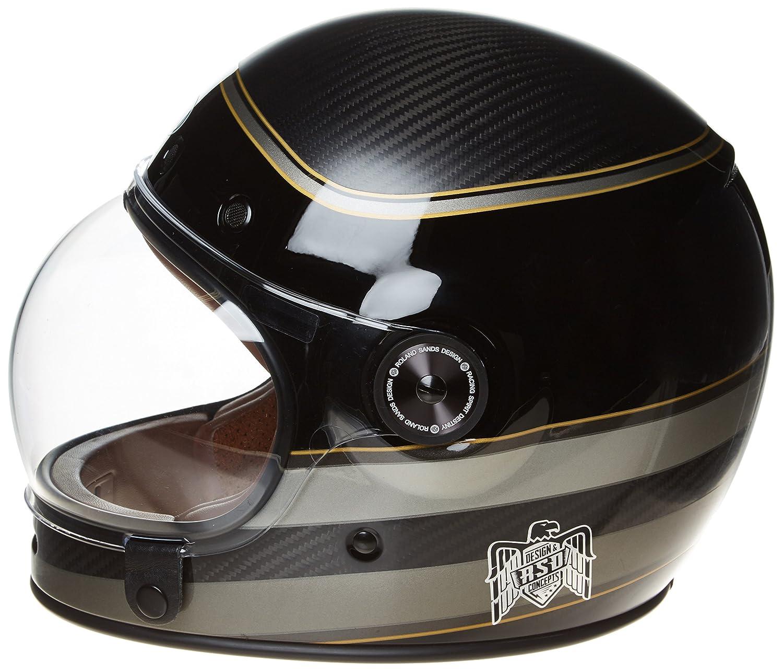 Bell Powersports Bullitt Motorradhelm L Solid Schwarz Schwarz
