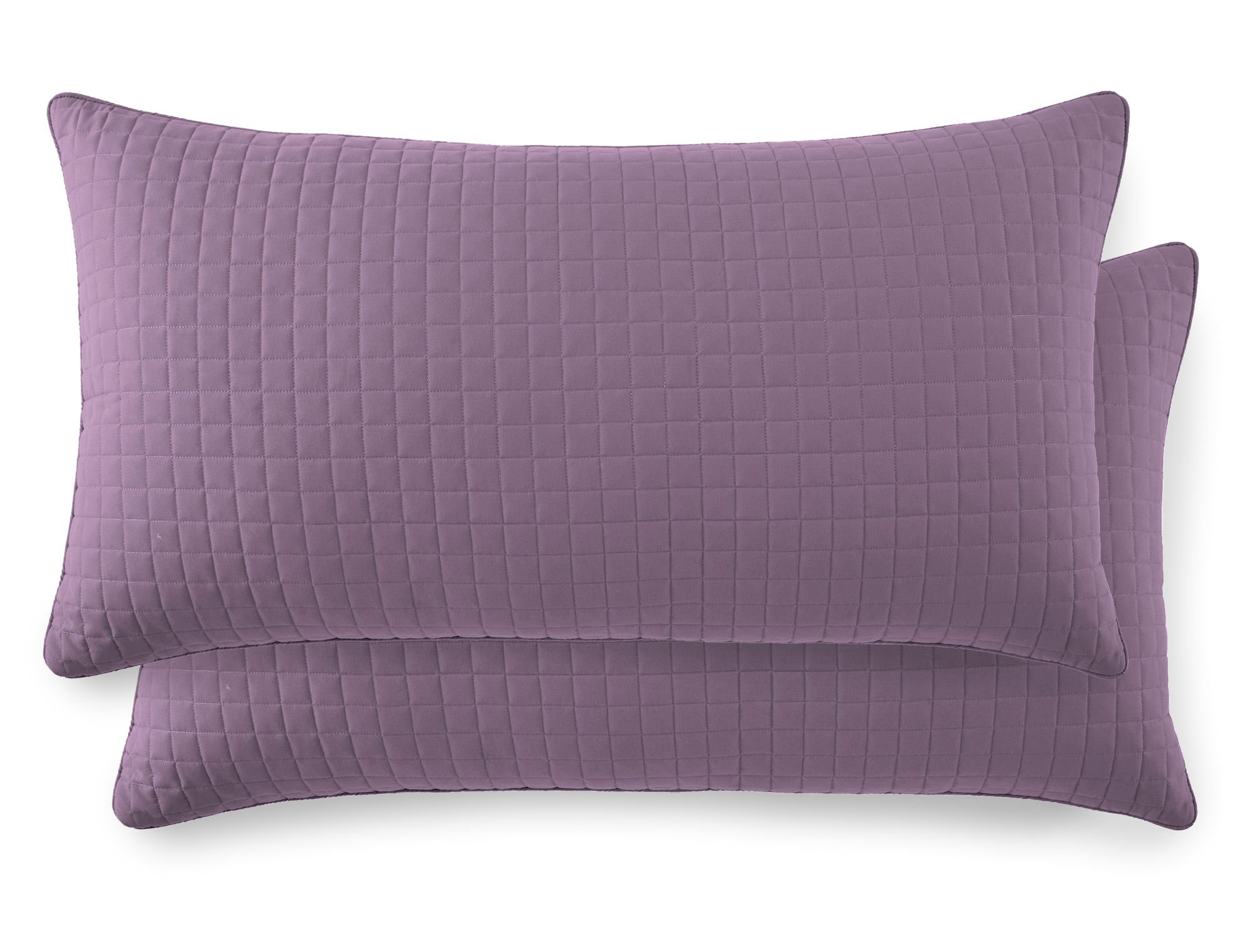 Southshore Fine Linens - VILANO SPRINGS - Pair of Quilted Pillow Sham Covers (No Inserts), 20'' x 36'', Lavender