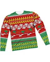 Ugly Christmas Sweater -- Star Trek All-Over Long-Sleeve T-Shirt