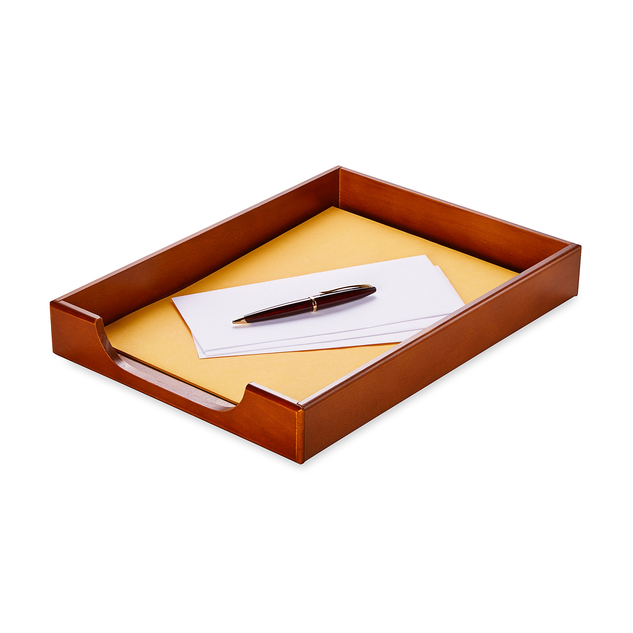 Rolodex Wood Tones Collection Desk Tray, Legal-Size, Mahogany (23360) by Rolodex (Image #2)