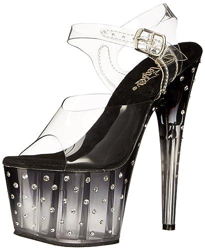 Chaussures Pleaser Stardust transparentes femme BLjFyeQ