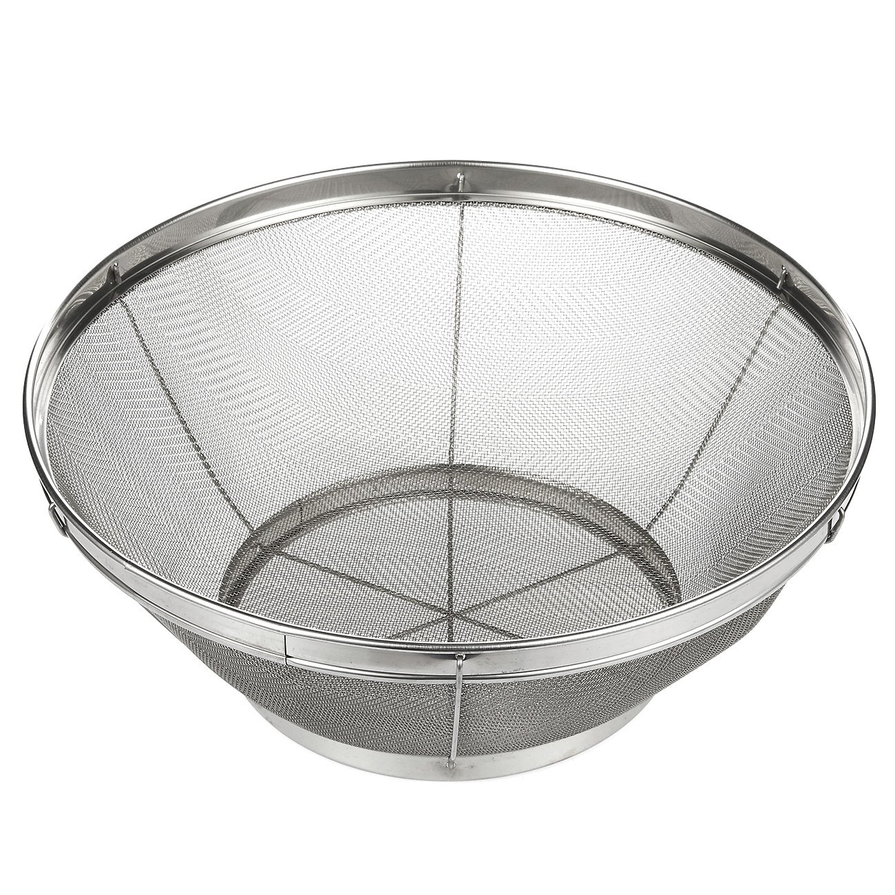 Stainless Steel Colander/Mesh Colander Strainer Basket - For Kitchen Straining, Draining, Salad, Spaghetti and Noodles - 10.25 x 4 Inches