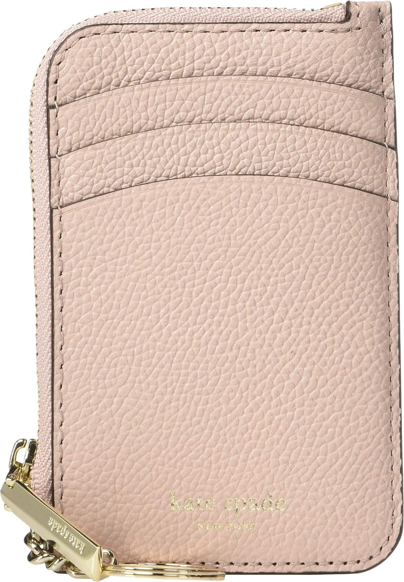 Kate Spade New York Women's Margaux Zip Card Holder, Pale Vellum, One Size