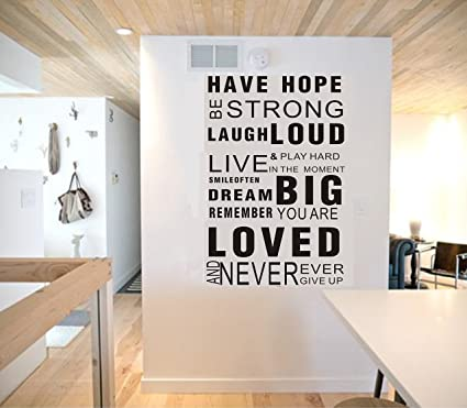 LUCKKYY HOPE Inspirational Wall Decals Quotes,Word Wall Sticker Quotes  Family Inspirational Wall Art Vinyl