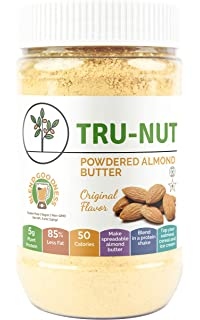 Tru-Nut Powdered Almond Butter (15 Servings, 6.5oz Jar) Good Source