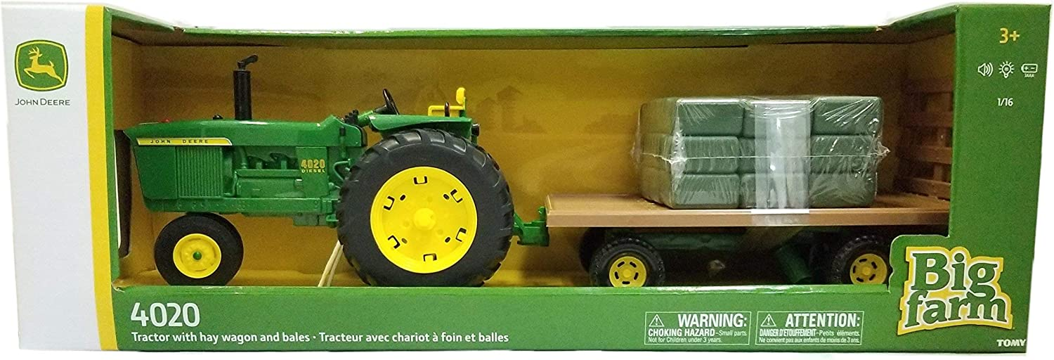 Amazon.com: John Deere Big Farm 4020 - Tractor con vagón y ...