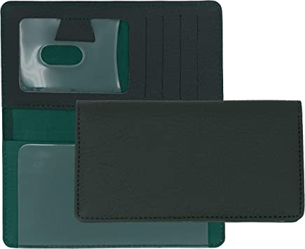 Forest Green Textured Leather Checkbook Cover