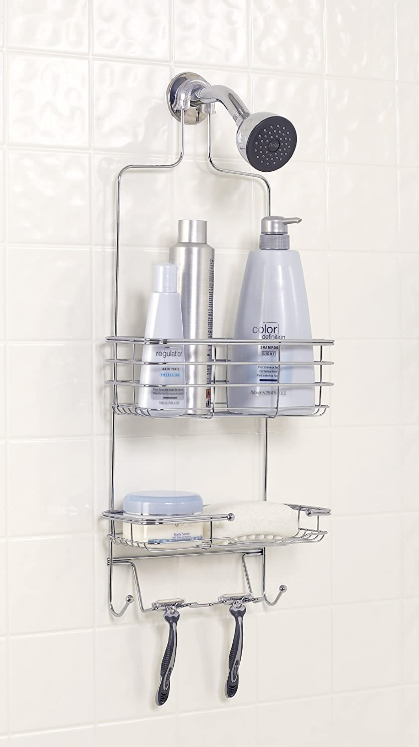 Zenna Home E7803stbb Over The Shower Door Caddy Stainless Steel