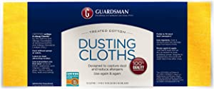 Guardsman Wood Furniture Dusting Cloths - 12 Pre-Treated Cloths - Captures 2x The Dust of a Regular Cloth, Specially Treated, No Sprays or Odors - 462500