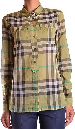Burberry Mujer Mcbi056082o Verde Algodon Camisa: Amazon.es: Ropa