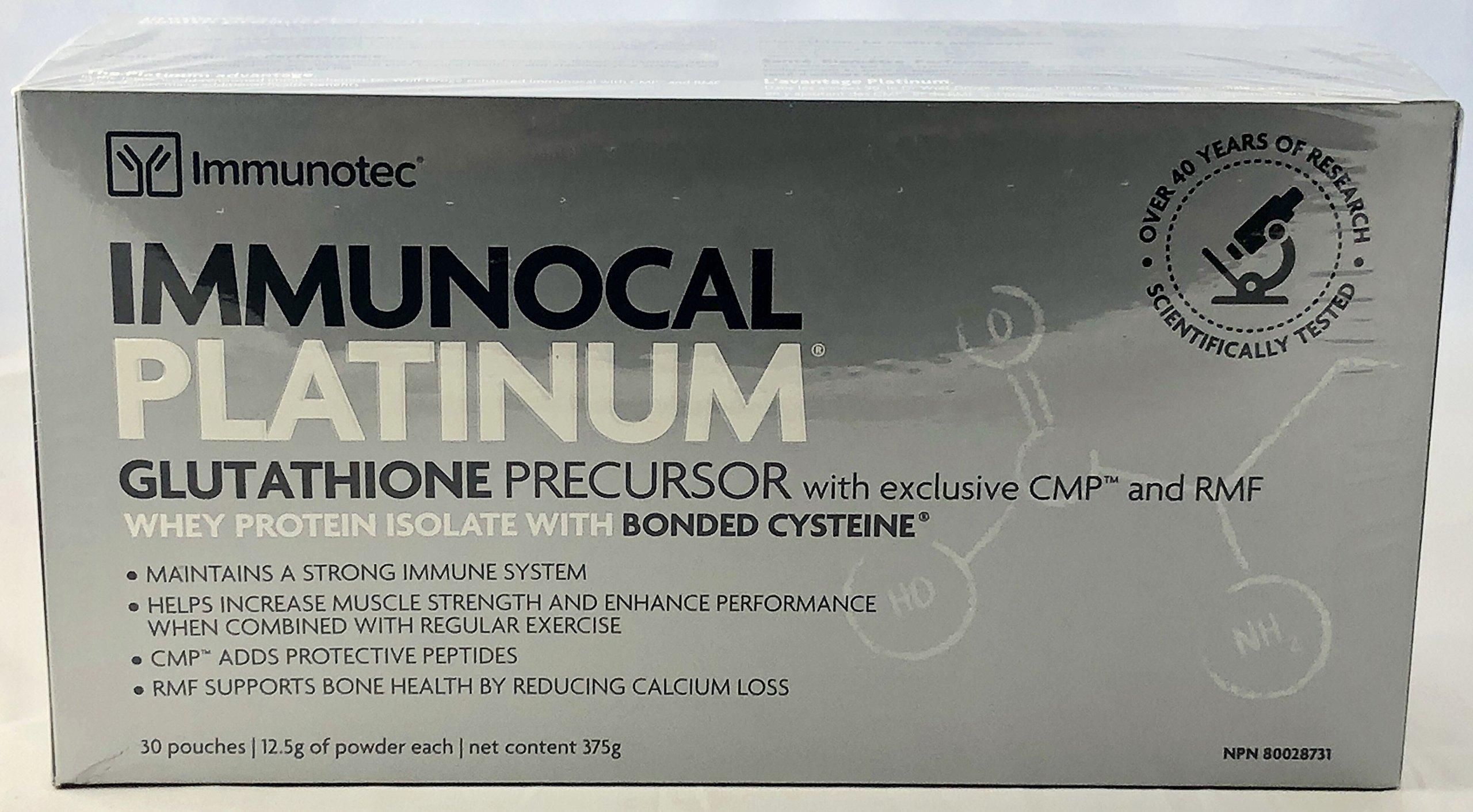 Immunocal Platinum by Immunotec - 30 pouches (0.44 oz/12.5 g each) [CANADA]