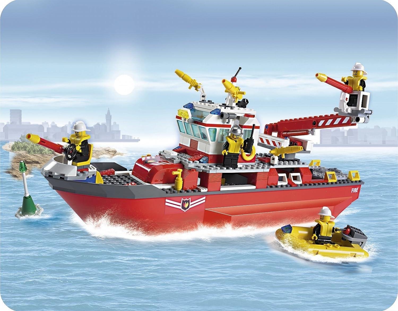 lego city 7207 fire boat amazoncouk toys games - Lego City Bateau