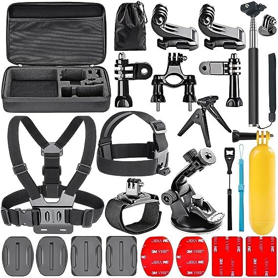 Navitech 18 in 1 Action Kamera Zubehör-Set mit EVA Fall für die GoXtreme BlackHawk 4K Action Camera