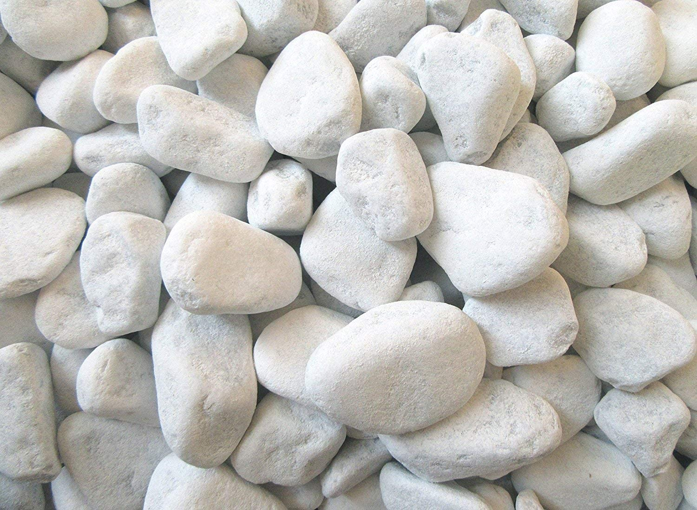 Grava decorativa blanca de Carrara