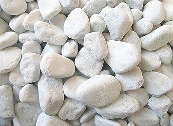 Gravier d\'ornement arrondi de marbre de Carrare Blanc Pour décoration de  tombe cimetière 1 kg Weiß