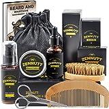 Beard Growth Kit,Beard Kit,Beard Grooming Kit w/Free Beard Conditioner,Beard Growth Oil,Beard Balm,Brush,Comb,Scissor,Storage