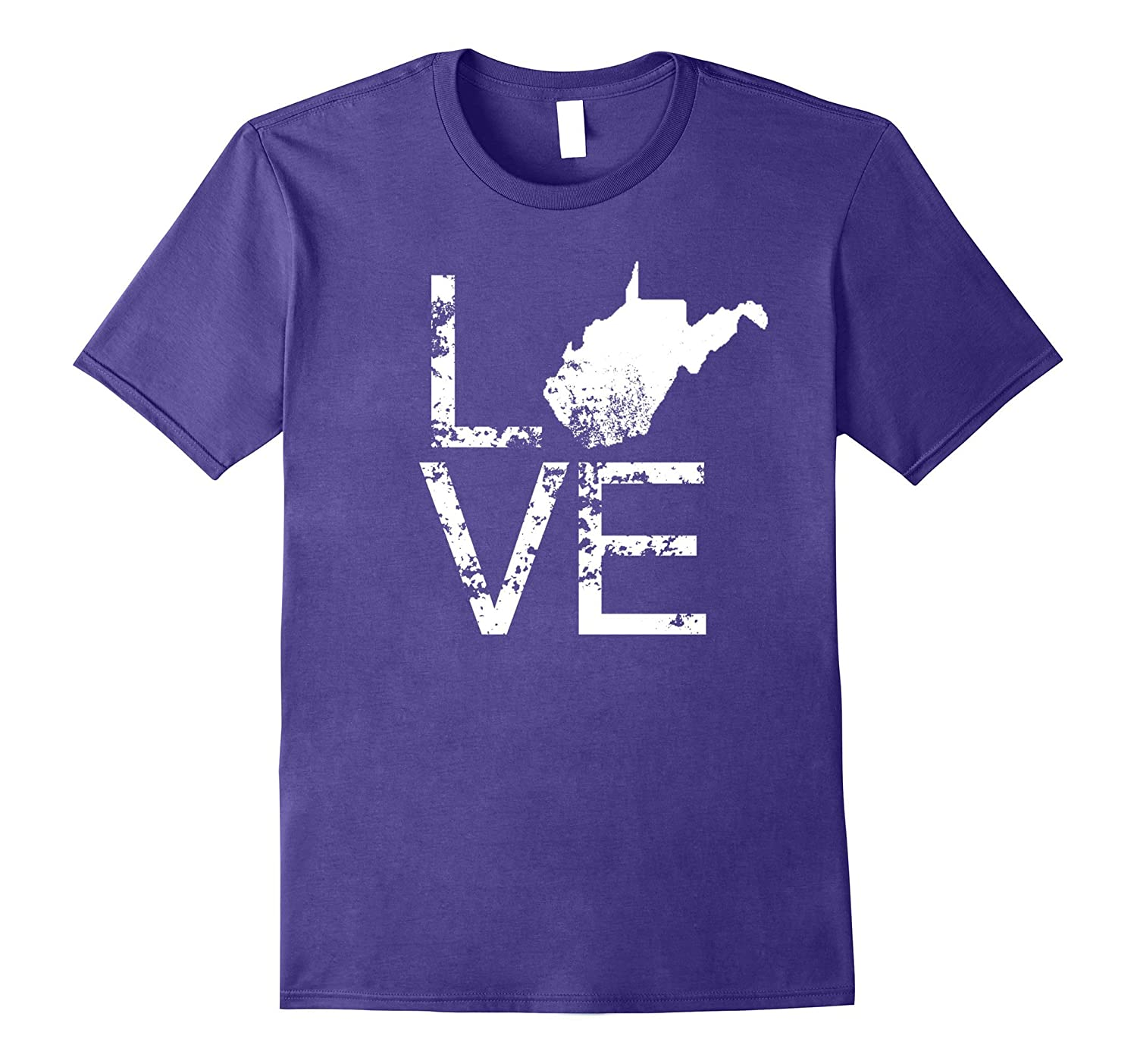 West Virginia Love Shirt WV State Home Map Distressed Tee-FL