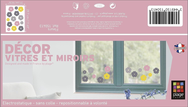 Plage 150413/Electrostatic Sticker Flowers Plastic Multi-Coloured 29.7/x 0.1/x 21/cm
