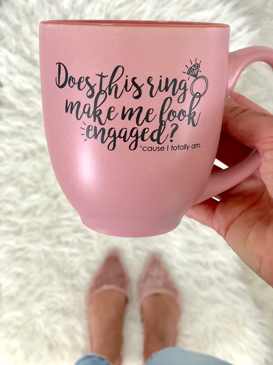 Amazon.com: Does this ring make me look engaged? Engagement Gift ...