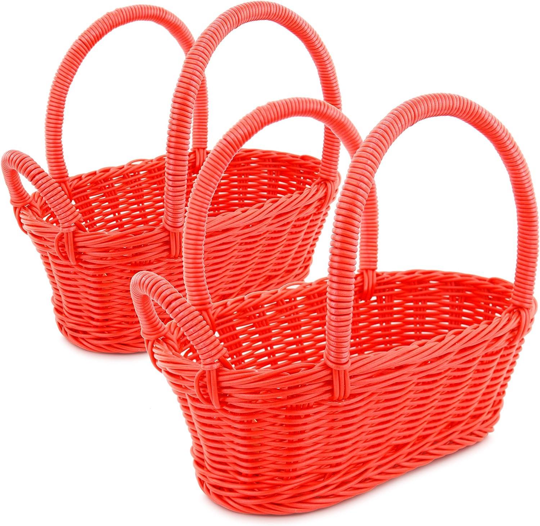 Colorbasket Wine Bottle Basket - Red, Set of 2