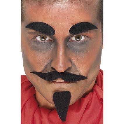 Maquinilla de afeitar de la ceja de barbilla barba DIABLO pelo Set 4 tlg DIABLO máscara