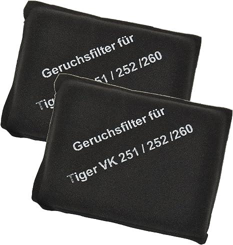 100 Stück Filterset Filter geeignet Vorwerk Tiger 251 252