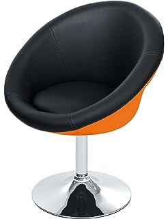Drehstuhl weiß schwarz  2-farbiger Lounge Sessel von opixeno, Cocktailsessel, Barstuhl ...