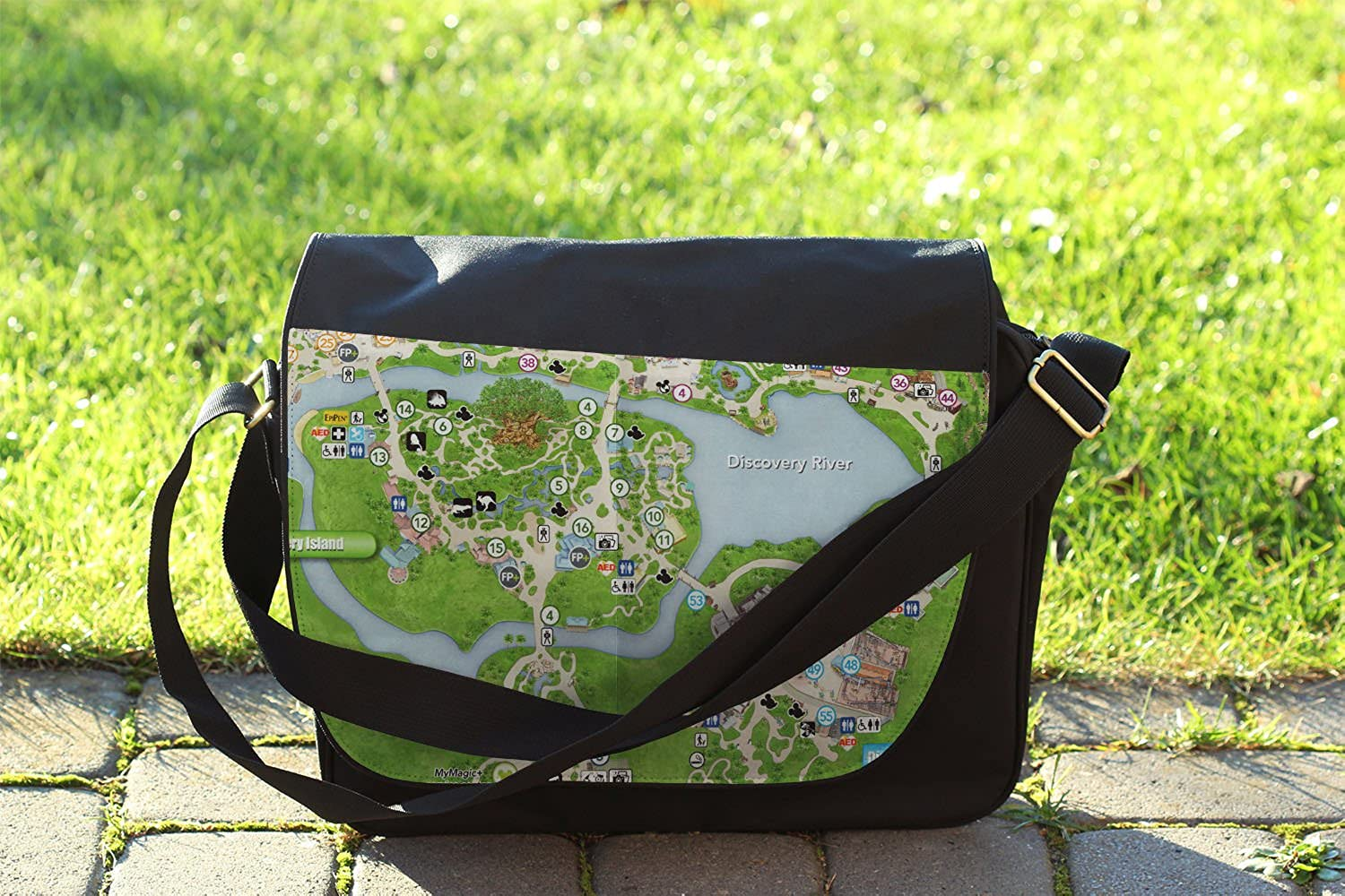 Animal Kingdom Map Messenger Bag