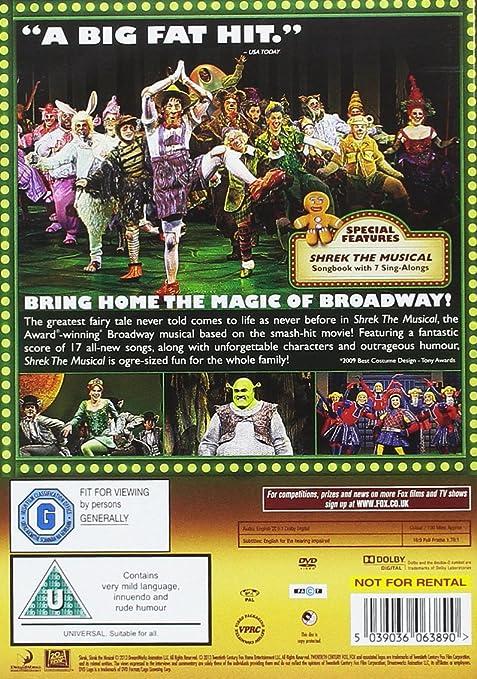 Shrek the Musical [DVD]: Amazon co uk: Jason Moore, Brian d