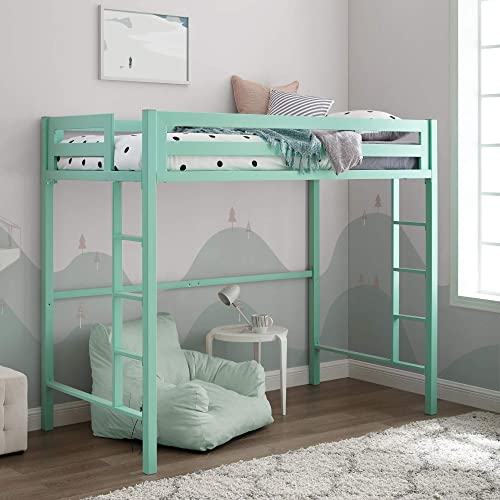 Walker Edison Furniture Premium Twin Metal Loft Bed